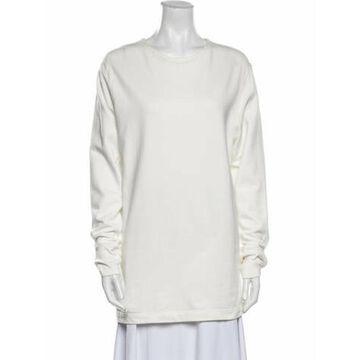 Crew Neck Long Sleeve Sweatshirt White