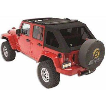 Bestop 56923-17 Wrangler Jk Unlimited 4-Door Trektop Nx, Black Twill