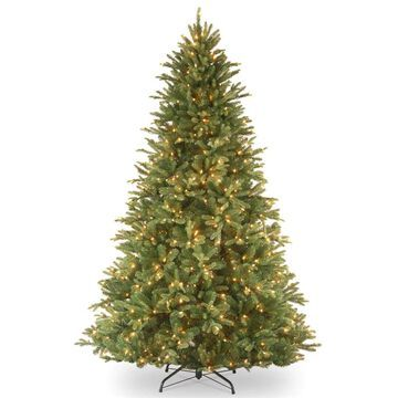 National Tree Company 7.5-ft Tiffany Fir Pre-Lit Traditional Artificial Christmas Tree with 750 Multi-Function LED Lights | PETF3-D00-75