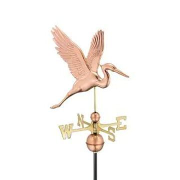 Graceful Blue Heron Pure Copper Weathervane by Good Directions (Pure Copper)