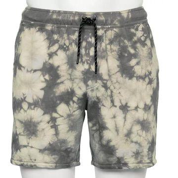 Men's Urban Pipeline Tie-Dye French Terry Shorts, Size: Small, Dark Grey