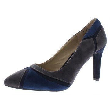 Rialto Womens Morgana Suede Colorblock Heels