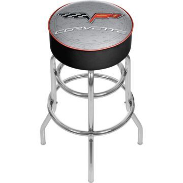 Trademark Gameroom Bar Stools Chrome Bar height (27-in to 35-in) Upholstered Swivel Bar Stool | GM1000S-C6-COR