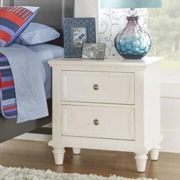Preston 2-drawer Side Table Nightstand by iNSPIRE Q Junior (White)