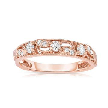 Noray Designs 14K Rose Gold 1/4ct TDW Diamond Stackable Ring - White G-H