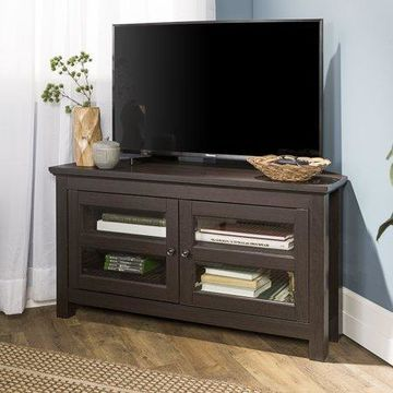 Walker Edison Wood Corner TV Stand for TV's up to 48
