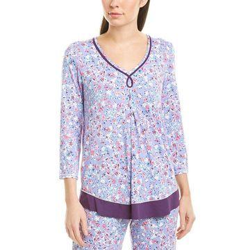 Ellen Tracy Womens Pajama Top