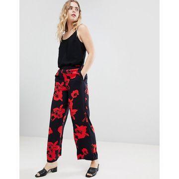 Ichi Floral Wide Leg Pants
