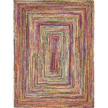 Unique Loom Braided Chindi Rug