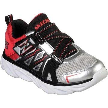 Skechers Boys' S Lights Hypno-Flash 3.0 Swiftest Z-Strap Sneaker Silver/Red
