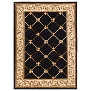 Well Woven Timeless Black Area Rug, 10'11