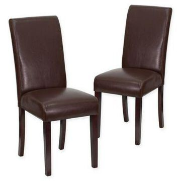 Flash Furniture Parsons Chair in Mahogany (Set of 2)
