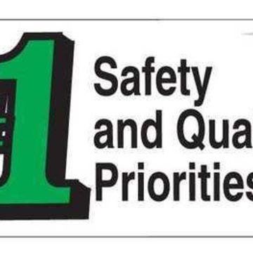 BRADY 106332 Safety Banner,3 x 5 ft.,Vinyl