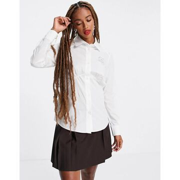 Love Moschino fitted shirt in white