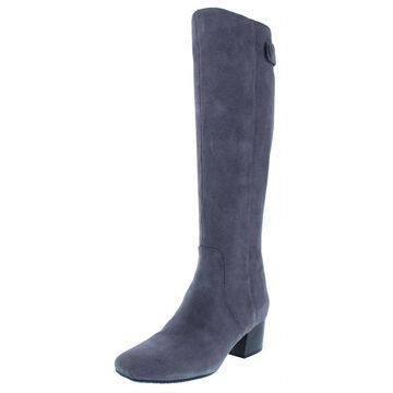 Bandolino Womens Farron Over-The-Knee Boots Suede Stacked Heel