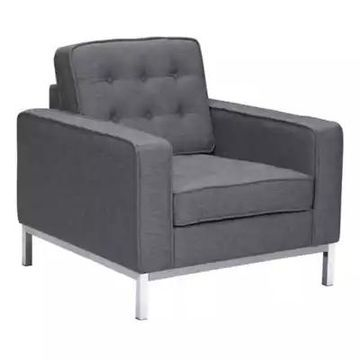 Armen Living Chandler Chair in Dark Grey