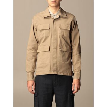 Eleventy cotton jacket with patch pockets