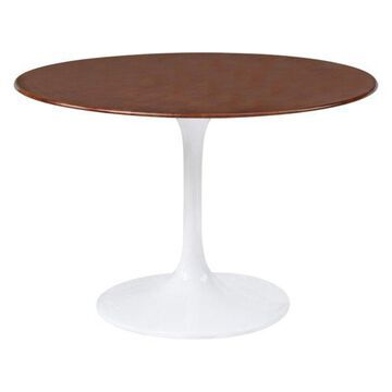 Fine Mod Imports Flower Wood Table, 48