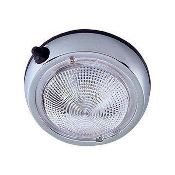 Perko Chrome Plated Zinc 12V Surface Mount Dome Light