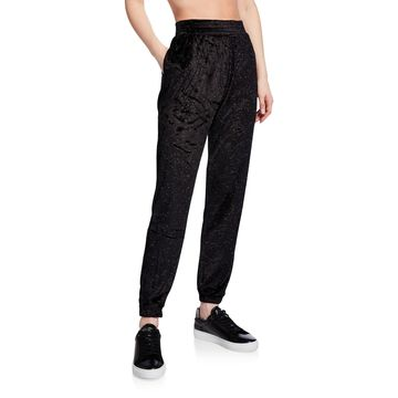 Velour Speckled Ankle Joggers
