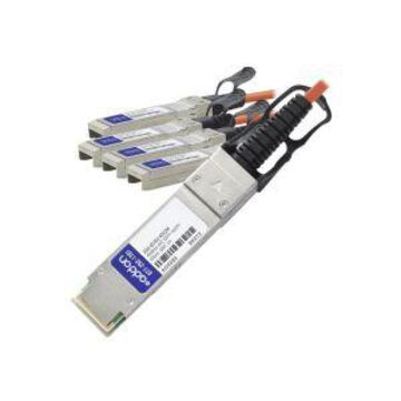 AddOn - 40GBase direct attach cable - SFP+ to QSFP+ - 6.6 ft - fiber o
