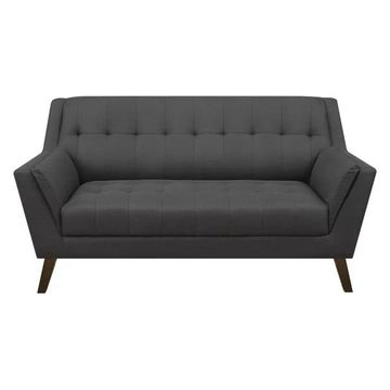 Pemberly Row Callie Charcoal Pebble Loveseat