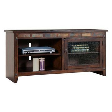 Santa Fe TV Console With Slate Panels, 52