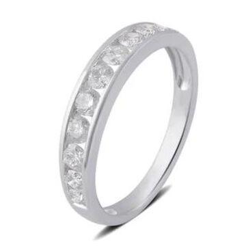 Divina 10K White or Yellow Gold (1 ct. TDW) Diamond Wedding Band