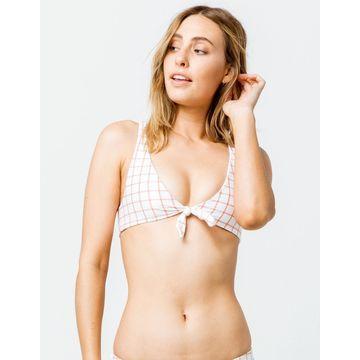 Grid Bralette Two Way Bikini Top