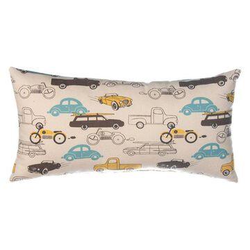 Traffic Jam Pillow - Rectangle (Cars)