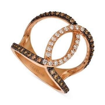 Le Vian Nude Diamond & Chocolate Diamond Ombre Ring (3/4 ct. t.w.) in 14k Rose Gold
