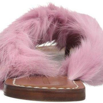 Bernardo Womens Miami fur Fur Open Toe Casual