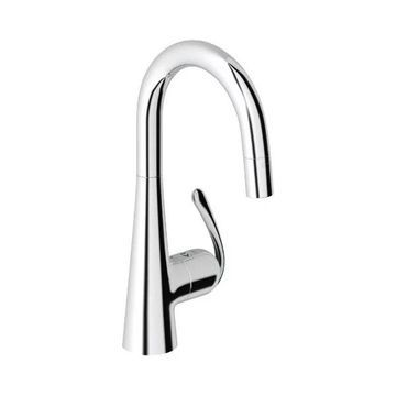 Grohe Chrome Ladylux 1 Handle Pullout Bar Faucet