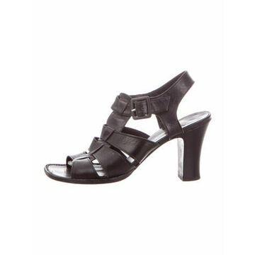 Cosmic Leather Gladiator Sandals Black