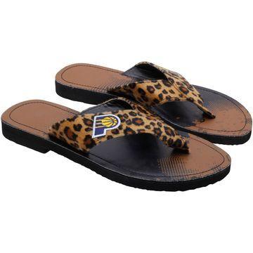Indiana Pacers Women's Cheetah Strap Flip Flops