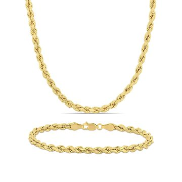 10kt Yellow Gold 2-pc Necklace and Bracelet Set