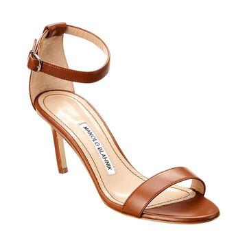 Manolo Blahnik Chaos 75 Leather Sandal