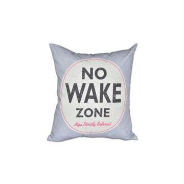 Nap Zone 16 Inch Gray Decorative Word Print Throw Pillow