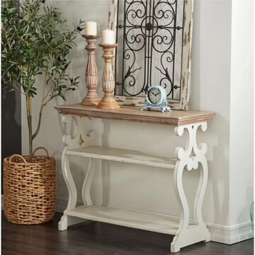 Farmhouse 3-Tier Wooden Console Table by Studio 350