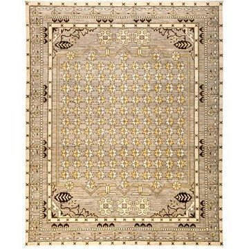 Solo Rugs One-of-a-kind Eclectic Hand-knotted Area Rug 8' x 10'