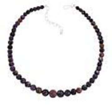 Mine Finds by Jay King Sterling Silver Charoite Bead Necklace