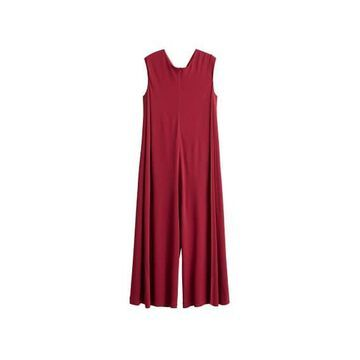 Violeta BY MANGO - Knot jumpsuit maroon - L - Plus sizes