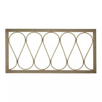 Stratton Home Decor Natural Wood & Metal Wall Panel