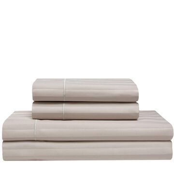 525 Thread Count Satin Stripe Cooling Cotton Sheet Set - Elite Home Products