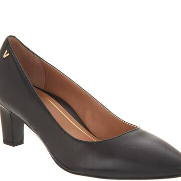 Vionic Leather Pointed-Toe Pumps - Mia