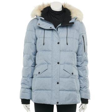 Women's ZeroXposur Karen Quilted Parka Jacket with Faux-Fur Trim Hood