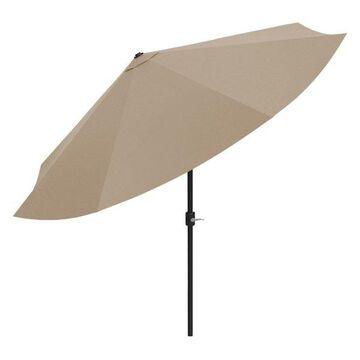 Patio Umbrella with Auto Tilt- 10 ft by Pure Garden, Sand