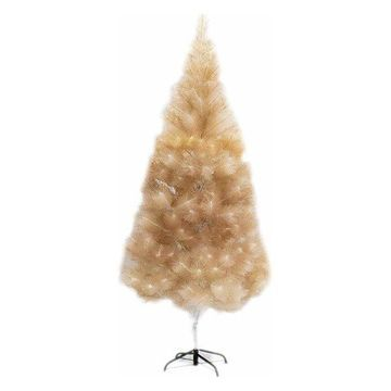 Aleko Artificial Indoor Christmas Holiday Tree, 8', Gold Glitter