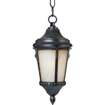 Maxim Lighting Odessa Espresso Traditional Tinted Glass Lantern Mini Pendant Light