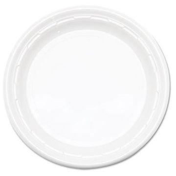 Dart Famous Service Plastic Dinnerware, Plate, 6'' dia, WE, 125/Pack, 8 Packs/Carton